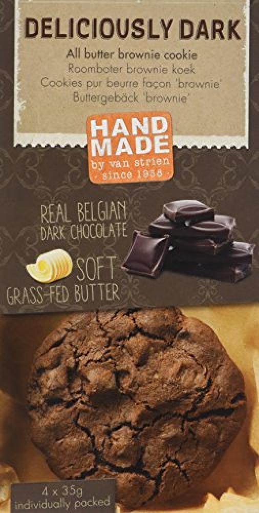 Van-Strien All butter Deliciously Dark Brownie Cookies 4x 35g