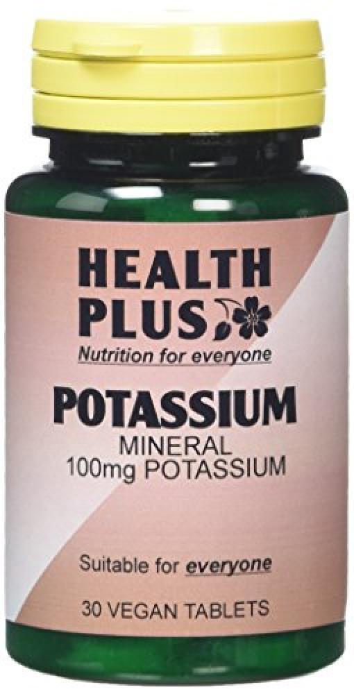 Health Plus Potassium 100mg Mineral Supplement 30 Tablets