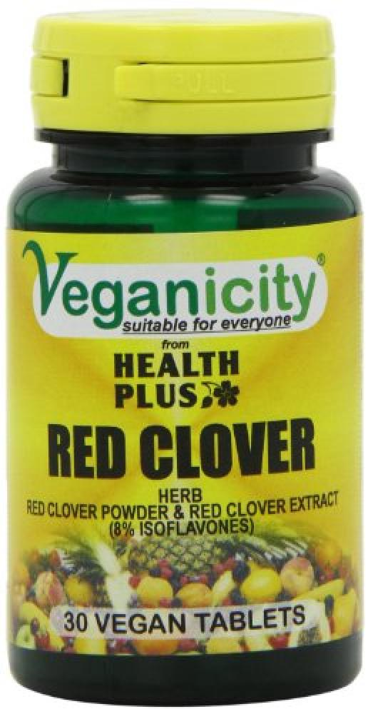 Veganicity Red Clover 40mg Isoflavones Womens Health Supplement - 30 Tablets