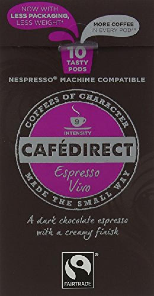 Cafe Direct Nespresso Compatible Coffee Capsules Espresso Vivo 53 g