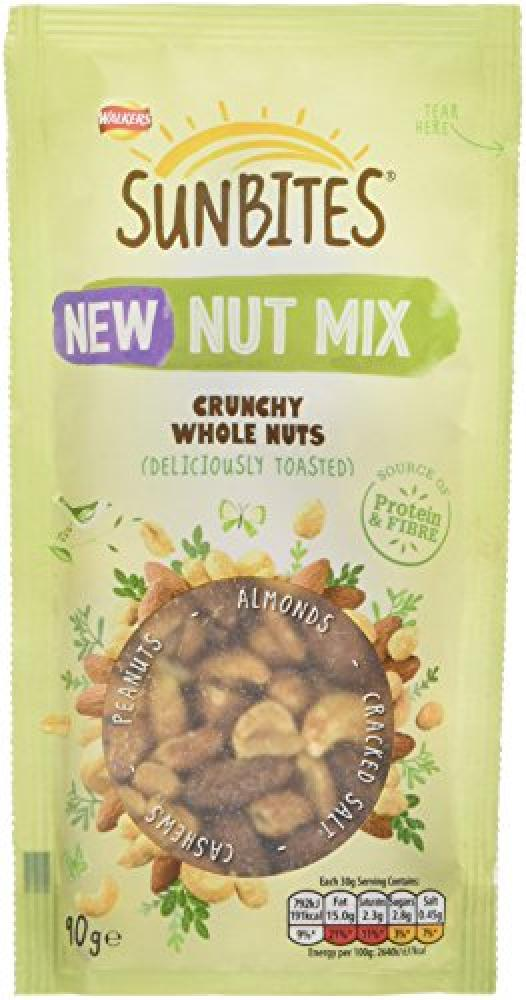 Walkers Sunbites Nut Mix Deliciously Toasted 90g