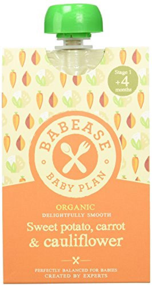 Babease Organic Stage 1 Baby FoodSweet PotatoCarrot and Cauliflower 100 g