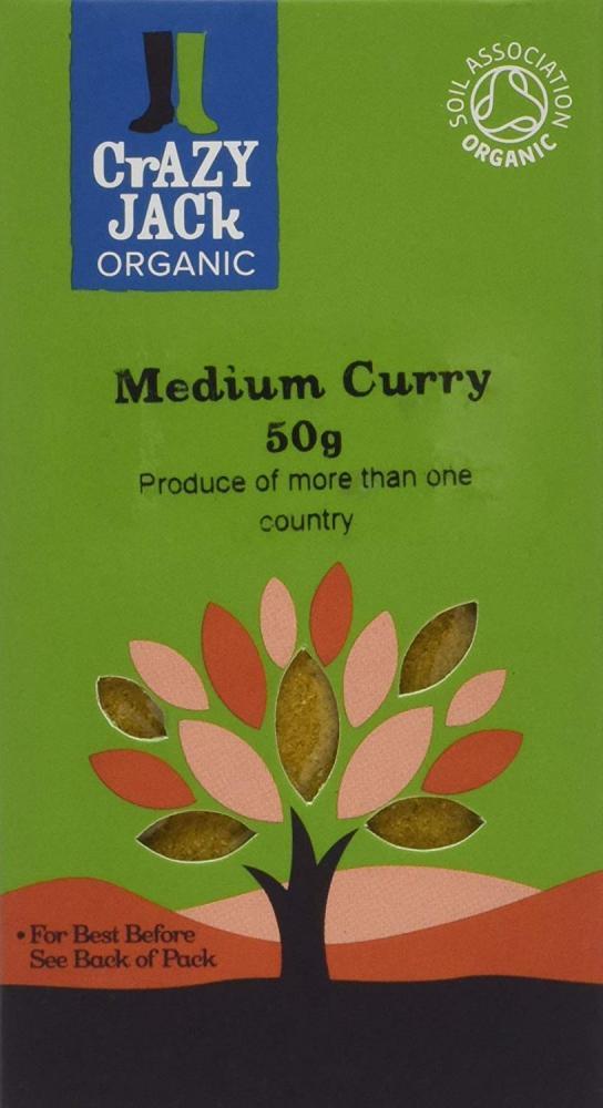 Crazy Jack Organic Medium Curry Powder 50 g