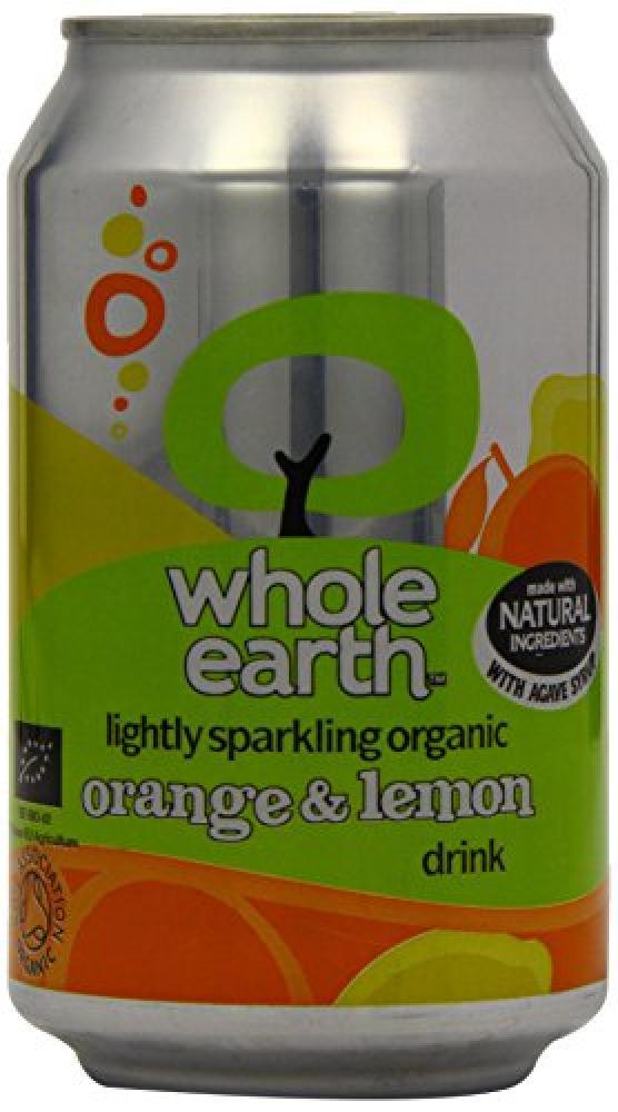 Whole Earth Organic Lightly Sparkling Orange and Lemon Drink 330 ml