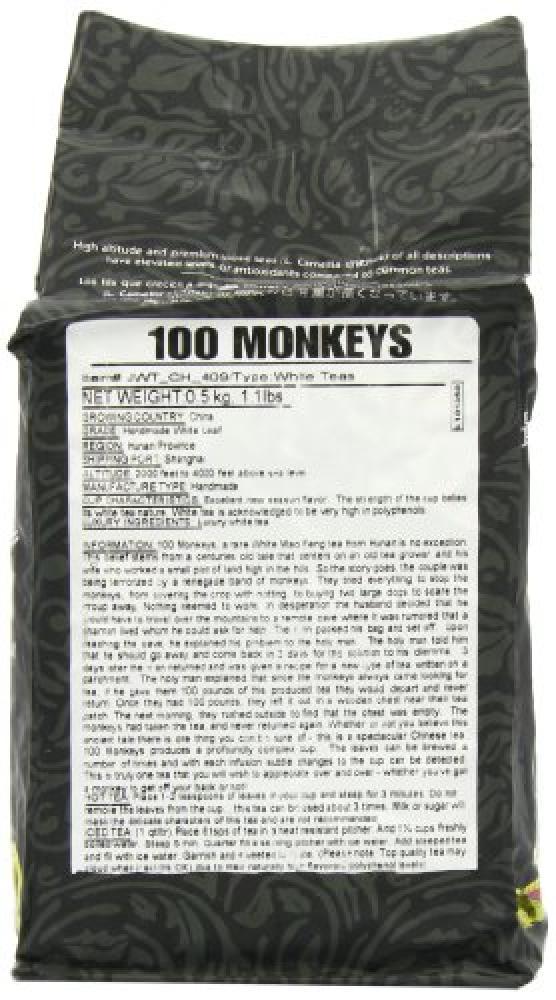 Simpli-Special 100 Monkeys Luxury White Loose Leaf Tea 500g