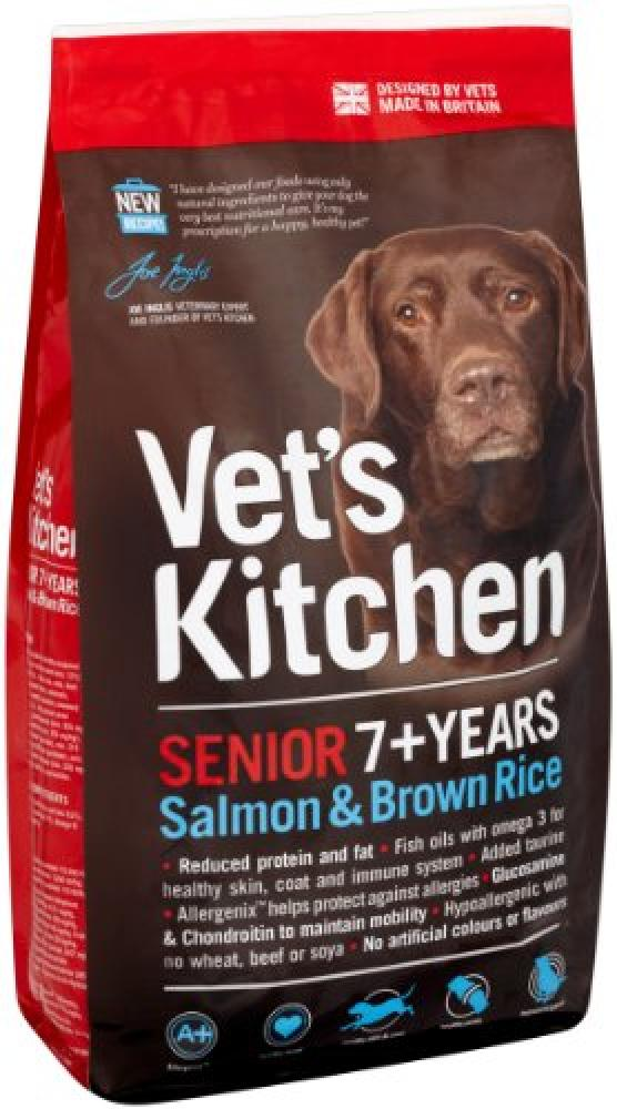 Vets Kitchen Dog Food Salmon and Brown Rice Complete Senior
