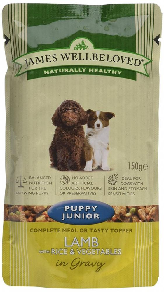 James Wellbeloved Puppy Junior Lamb with Rice and Vegetables 150g