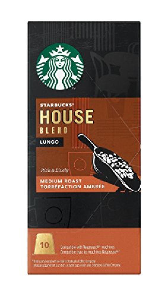 Starbucks House Blend Lungo Medium Roast 10 Capsules