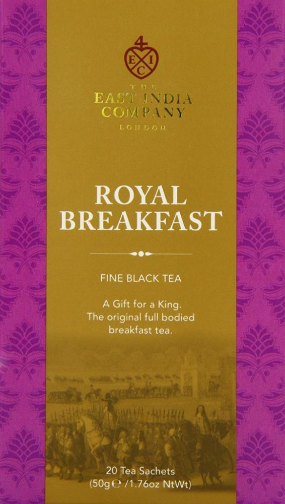 The East India Company Royal Breakfast Black Tea Sachets 50g