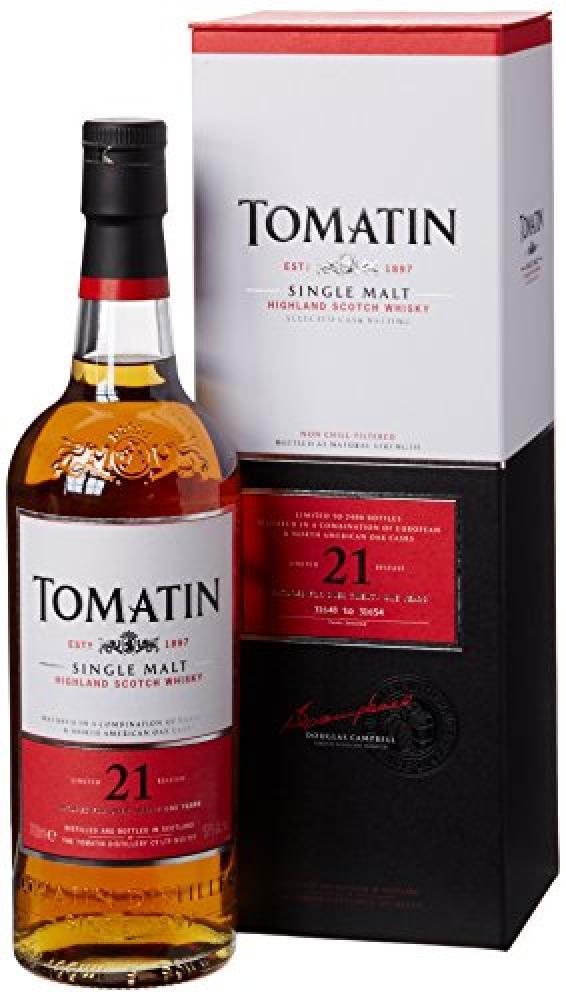 Tomatin 21 Year Old Highland Single Malt Scotch Whisky 70 cl