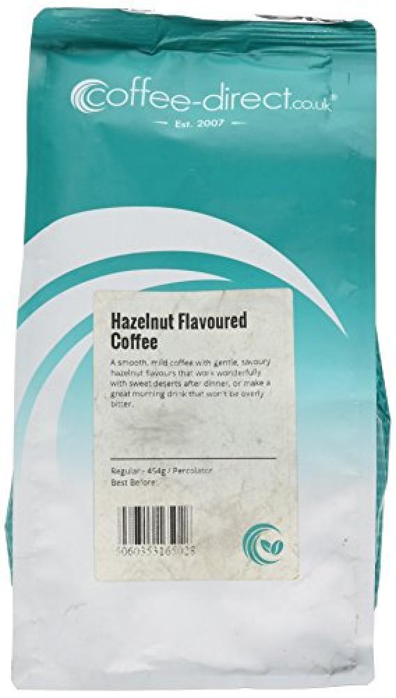 Coffee Direct Hazelnut Coffee Percolator Grind 454 g