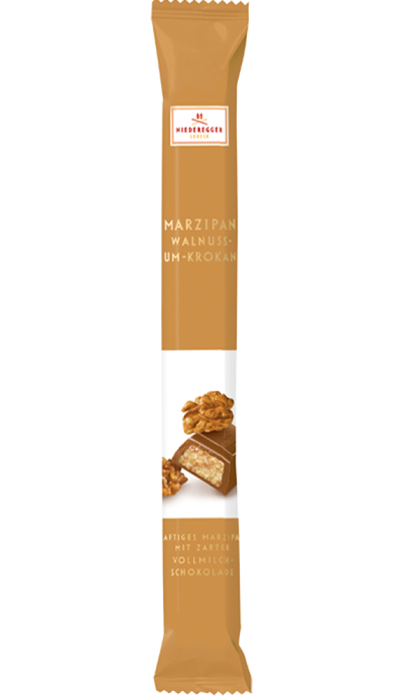 Niederegger Marzipan Walnut and Rum Milk Chocolate Stick 40 g