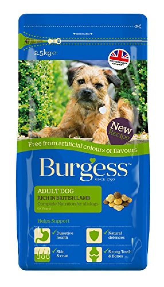 Burgess Adult Dog Food Rich in British Lamb 2.5kg