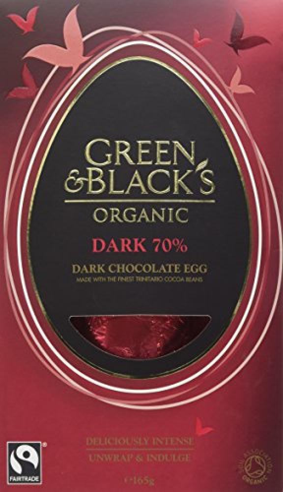 Green and Blacks Organic Dark Chocolate Egg 165g