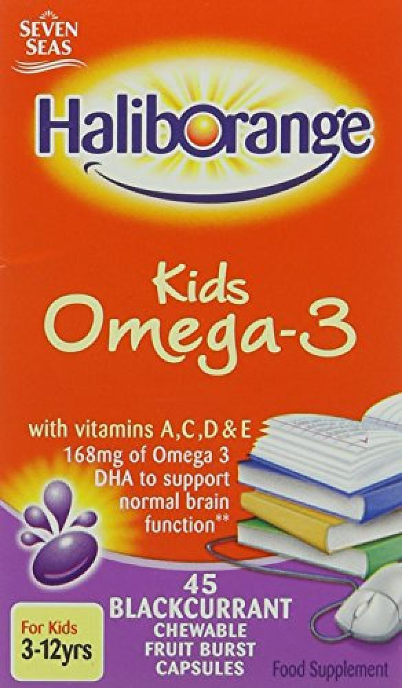 Seven Seas Limited Haliborange Kids Omega-3 Chewy Blackcurrant tablets 45