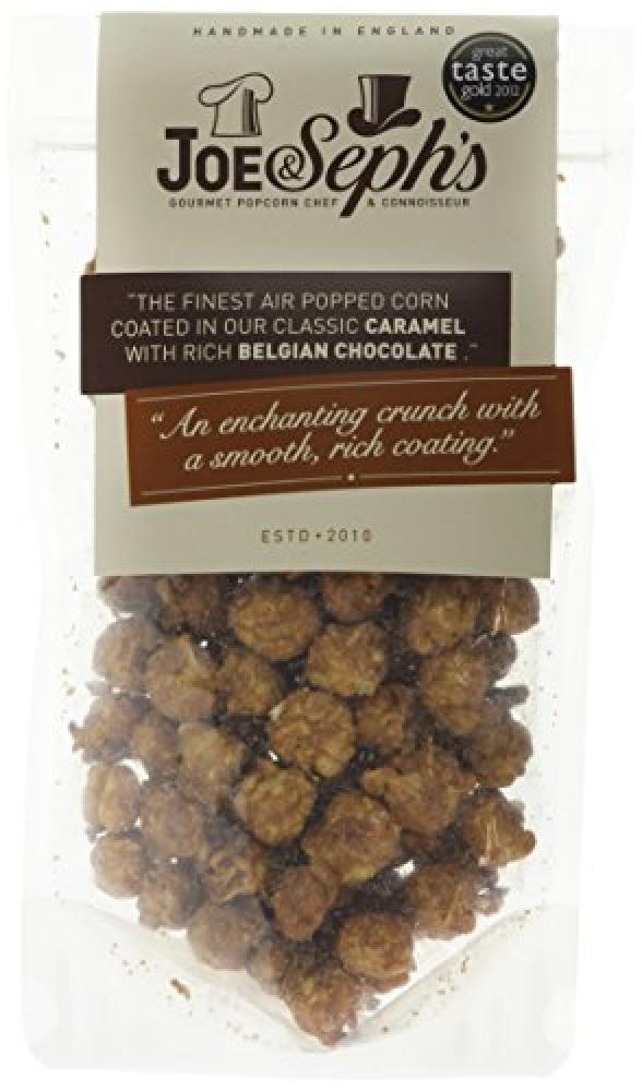 Joe and Sephs Belgian Chocolate Caramel Popcorn 90g