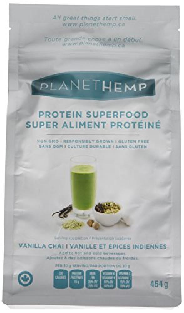Planet Hemp Vanilla Chai Superfood Powder 454g