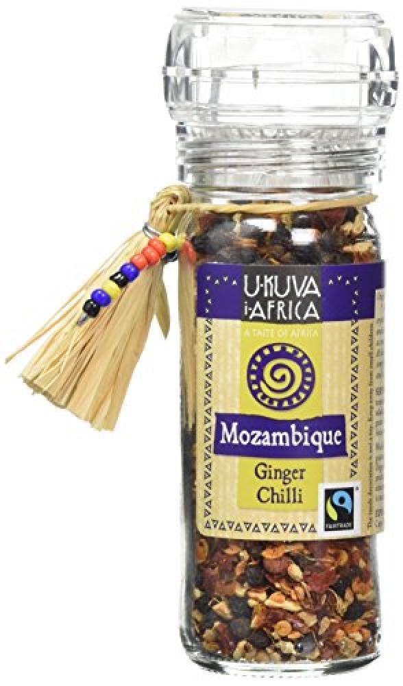 Ukuva iAfrica Mozambique Ginger Chilli and Garlic Spice Grinder 45 g