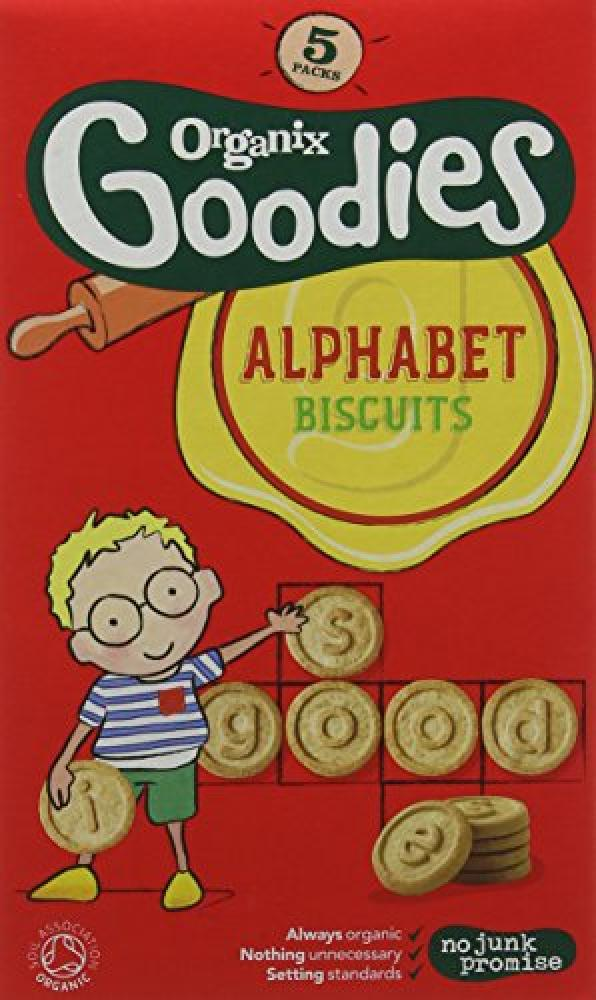 Organix Goodies From 12 Months Organic Alphabet Biscuits 5 x 25 g