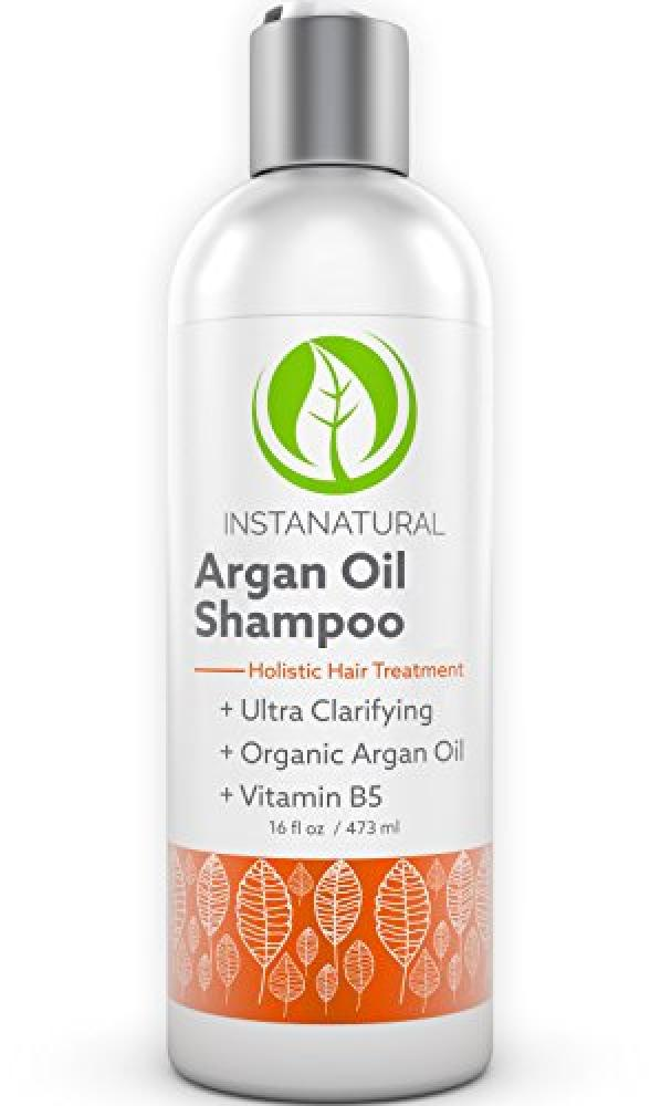 InstaNatural Argan Oil Shampoo - With 100 Certified Organic Moroccan Argan Oil and Vitamin B5 - Best Holistic Treatment for Soft and Silky Hair 473 ml
