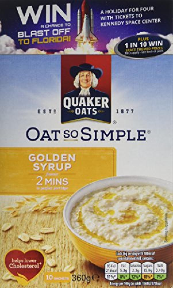 Quaker Oats Golden Syrup Porridge 360g