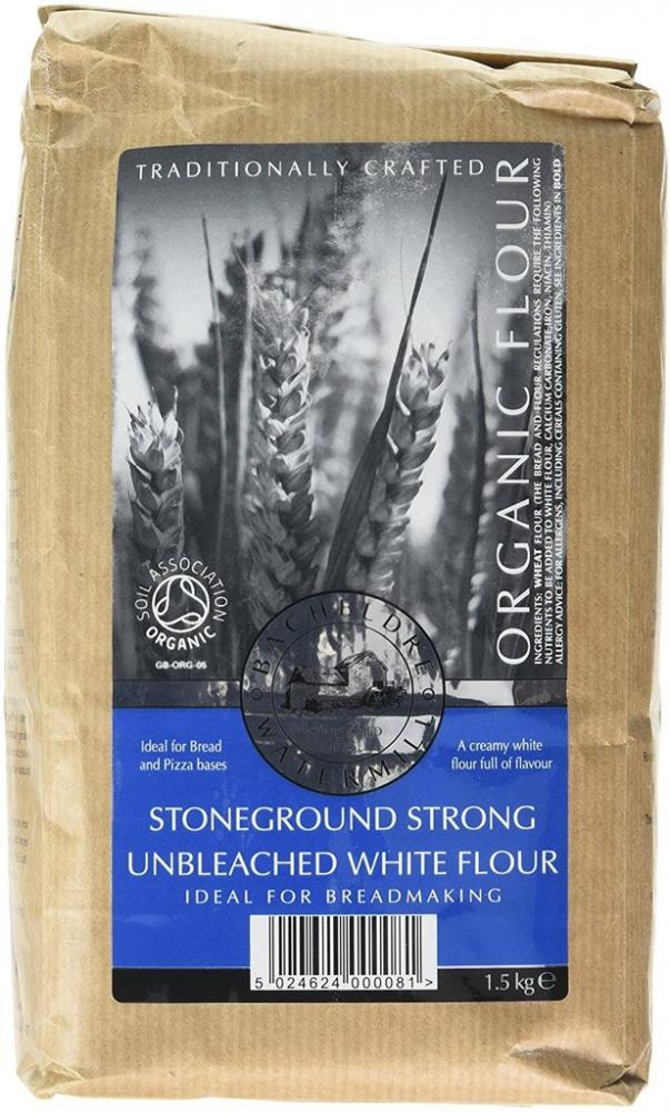 Bacheldre Watermill Organic Stoneground Strong Unbleached White Flour 1500g