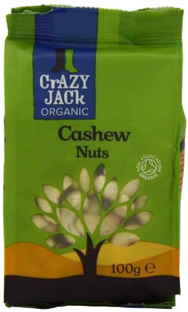 Crazy Jack Organic Whole Cashew Nuts 100 g