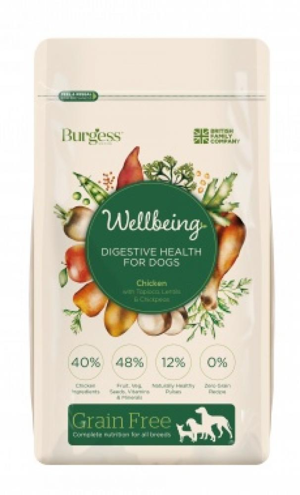 Burgess Wellbeing Digestive HealthFor Dogs Chicken With Tapioca Lentils And Chickpeas 1500g