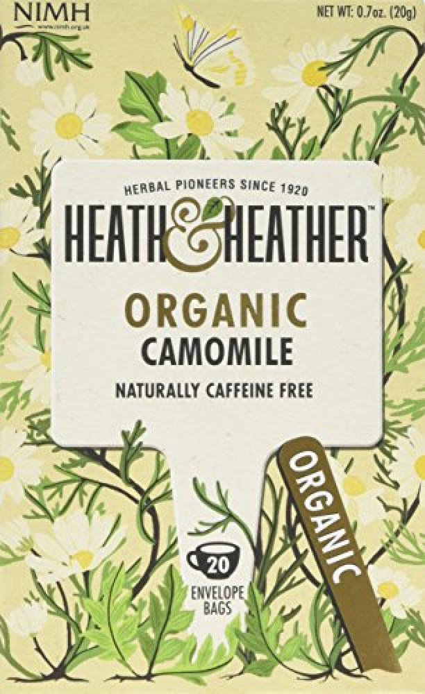 Heath and Heather Organic Camomile 20 Bags Caffeine Free