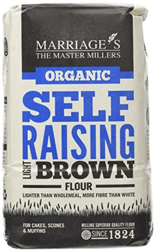 Marriages Organic Self Raising White Flour 1kg