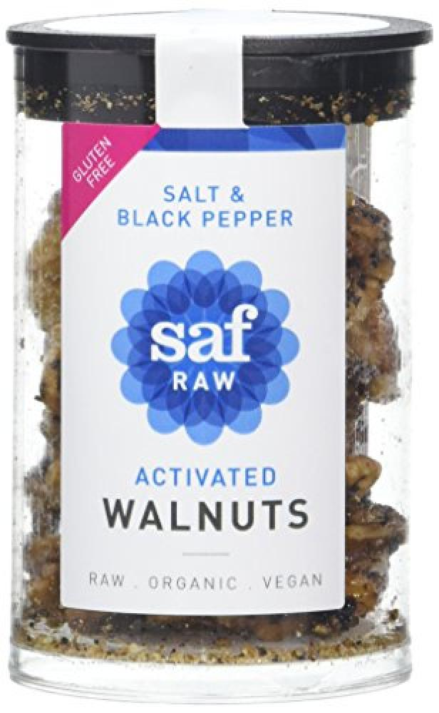 Saf Raw Salt and Black Pepper Activated Walnuts 50g
