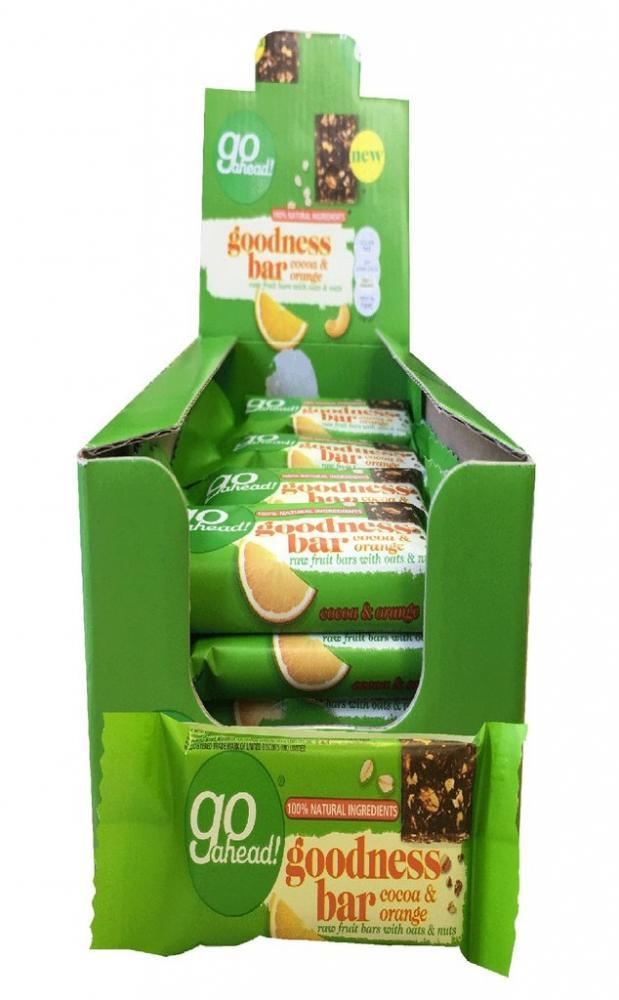 CASE PRICE  Go Ahead Goodness Bar With Cocoa And Orange 30g x 16