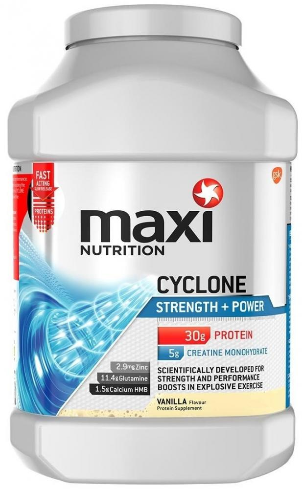 Maxi Nutrition Cyclone Strength and Power Protein Shake Powder Vanilla 980g