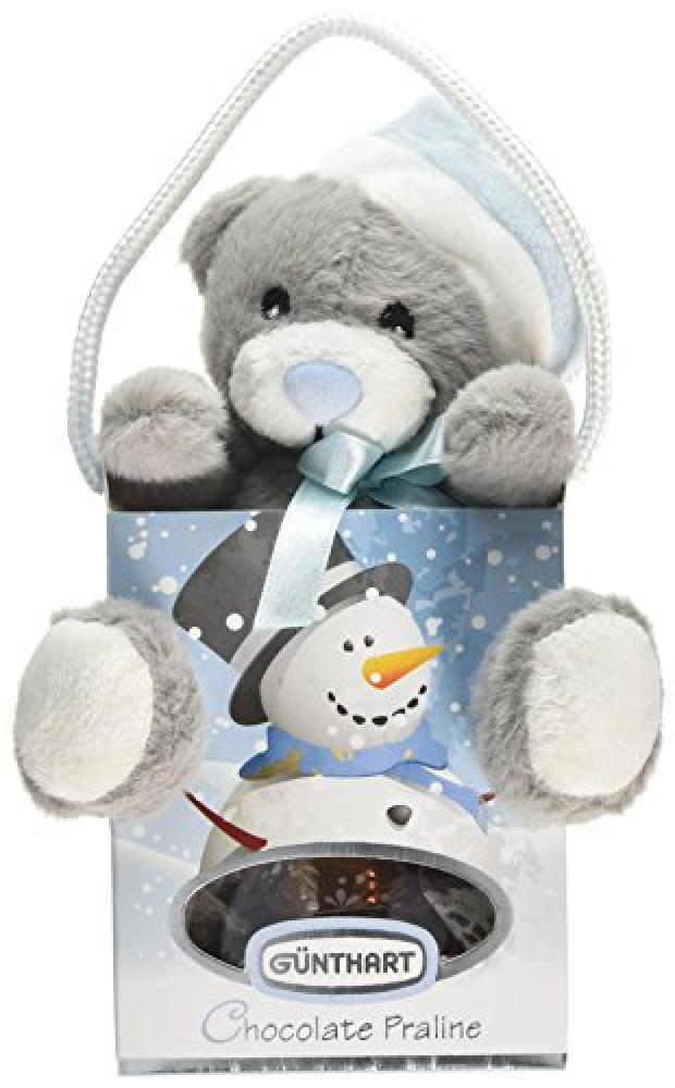 Gunthart Plush Santa Bear in Box Filled with Pralines 45g