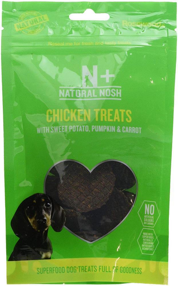 Rosewood Natural Nosh Chicken Treats with Sweet Potato Pumpkin and Carrot 80g
