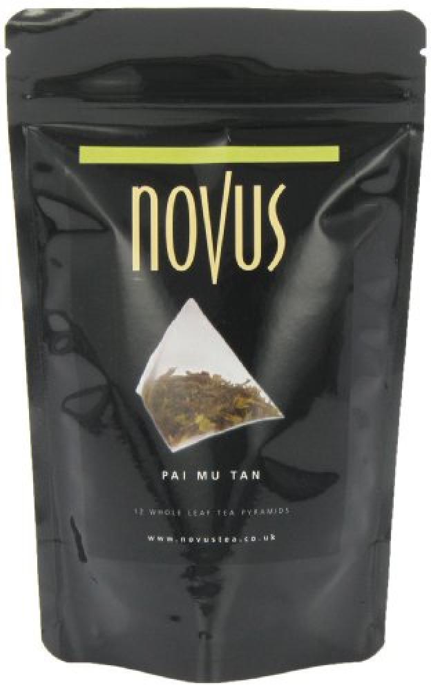 Novus Tea Mu Tan Whole Leaf Tea 12 Pyramids