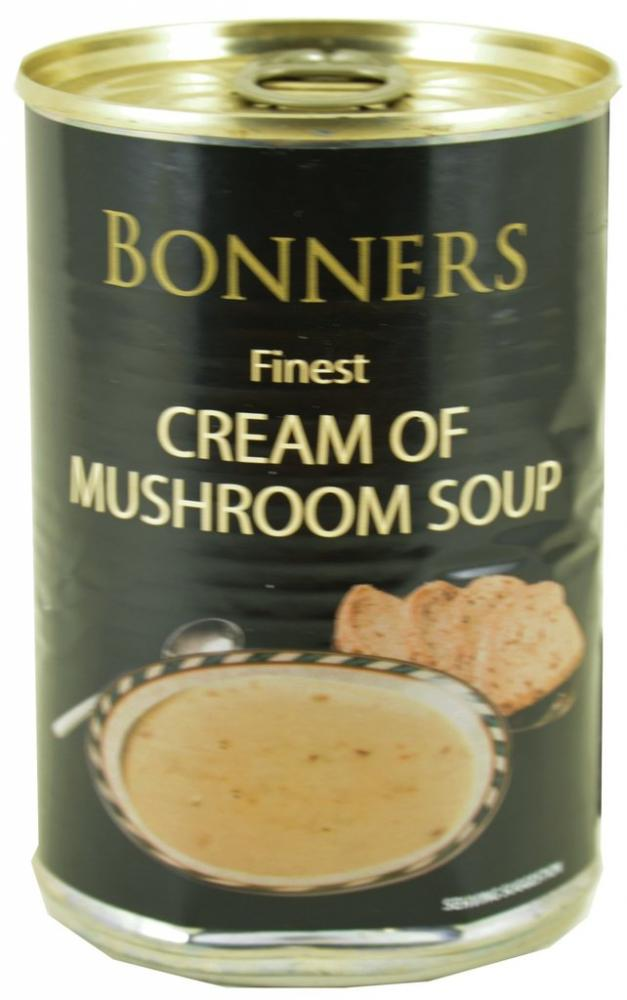 CLEARANCE  Bonners Finest Cream Of Mushroom Soup 400g