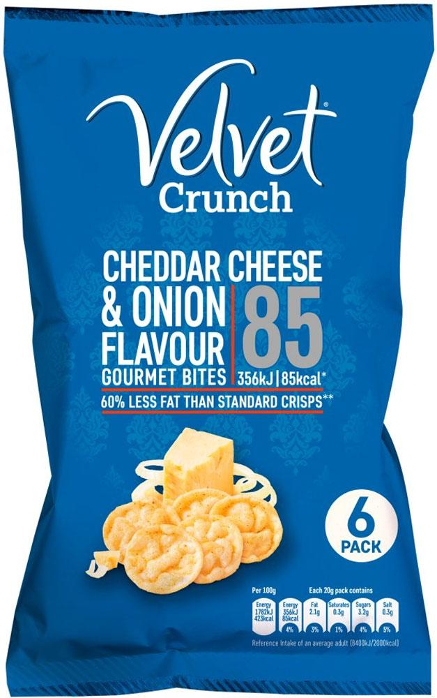Velvet Crunch Cheddar Cheese and Onion Flavour Gourmet Bites 20g x 6