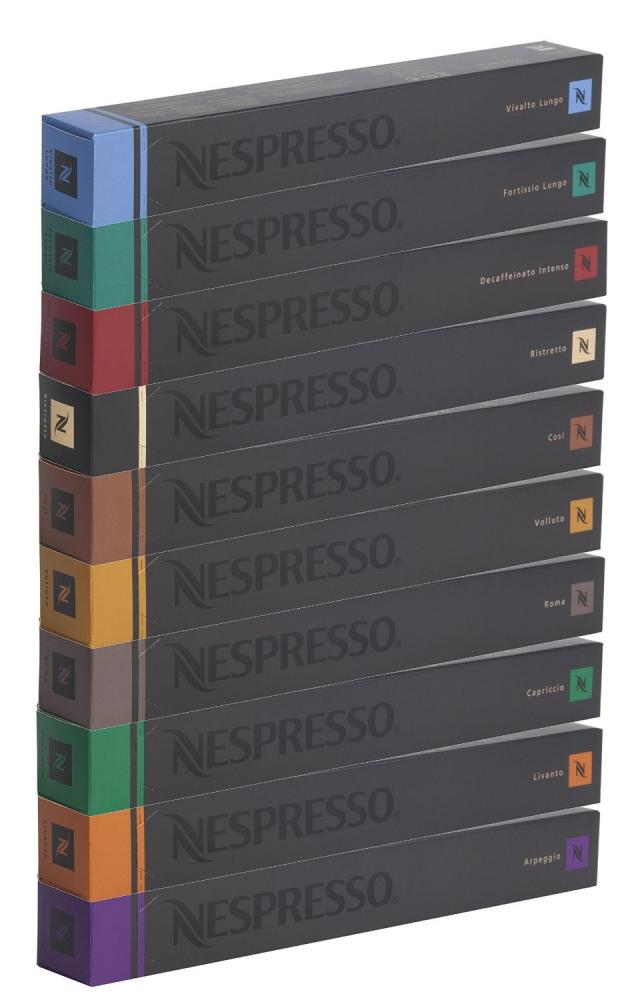 Nespresso 10 COFFEE CAPSULES LUCKY DIP Mixed Variety