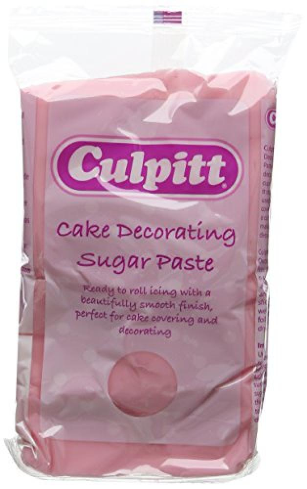 Culpitt Pink Cake Decorating Sugar Paste 1kg