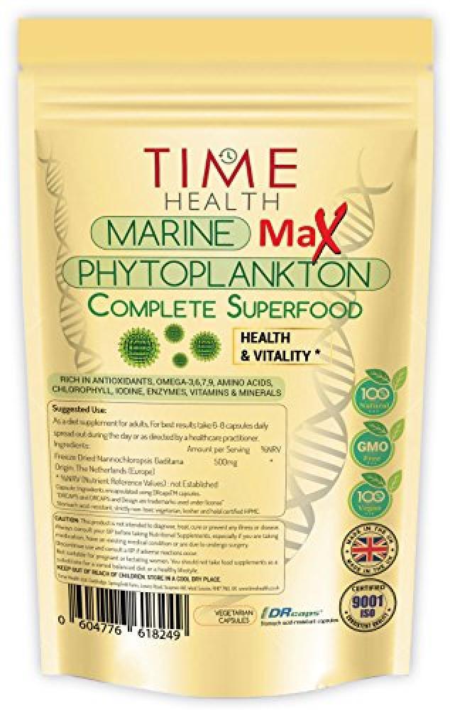Time Health New Phytoplankton Max - Pure Marine Phytoplankton 60 capsules