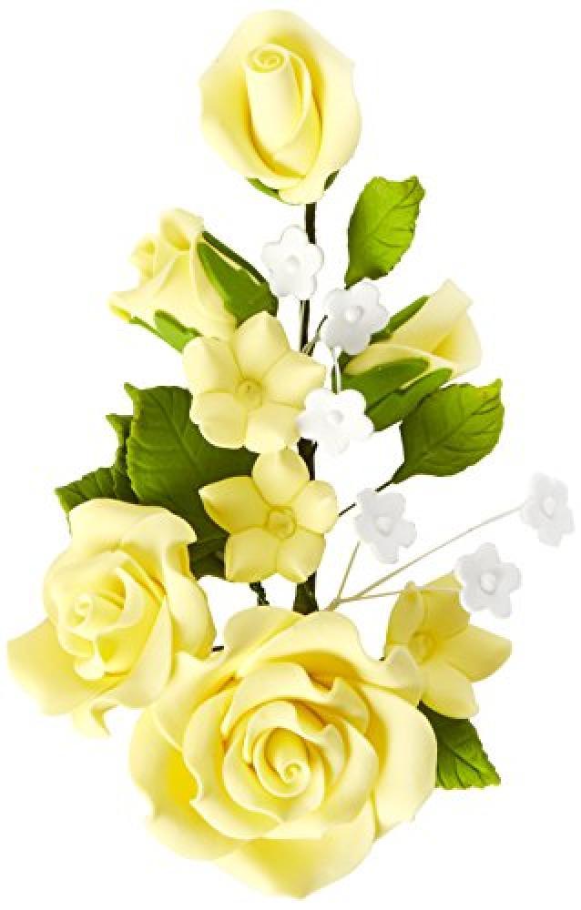 Culpitt Yellow Rose Gumpaste Spray