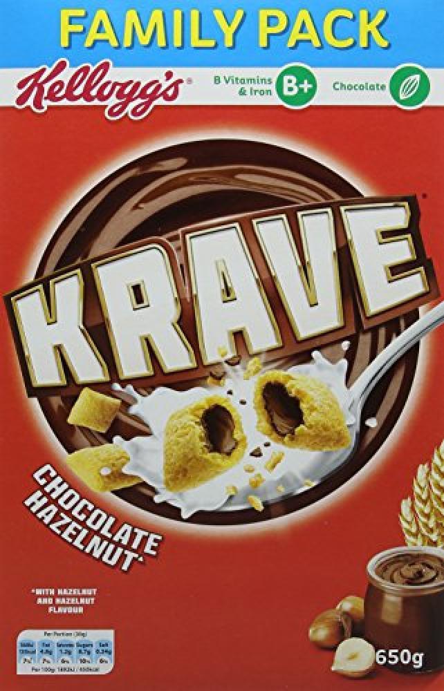 Kelloggs Krave Chocolate Hazelnut 650g