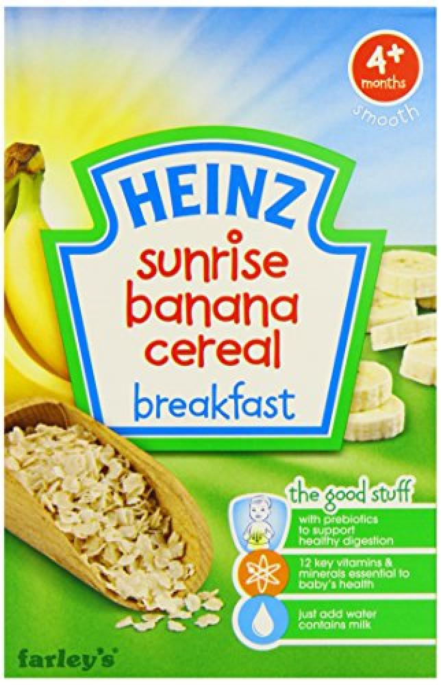 Heinz Sunrise Banana Cereal Breakfast 4 Months Plus 125 g