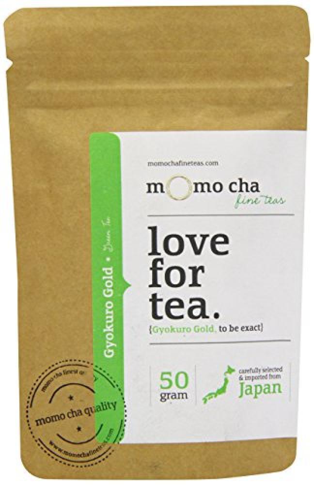 Momo Cha Fine Teas Gyokuro Gold Top Grade Loose Leaf Japanese Green Tea 50 g