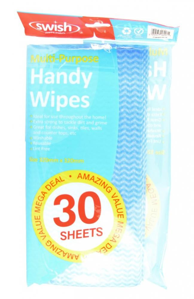 Swish Multi-Purpose Handy Wipes 30 Sheets