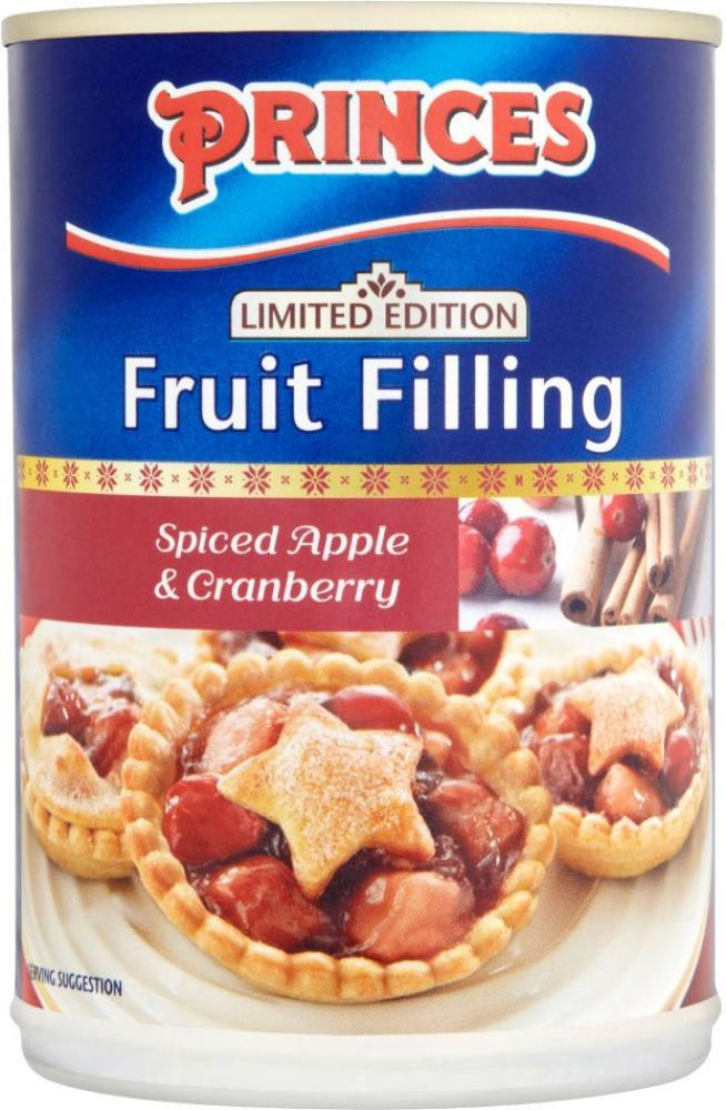 Princes Limited Edition Spiced Apple and Cranberry Fruit Filling 395g