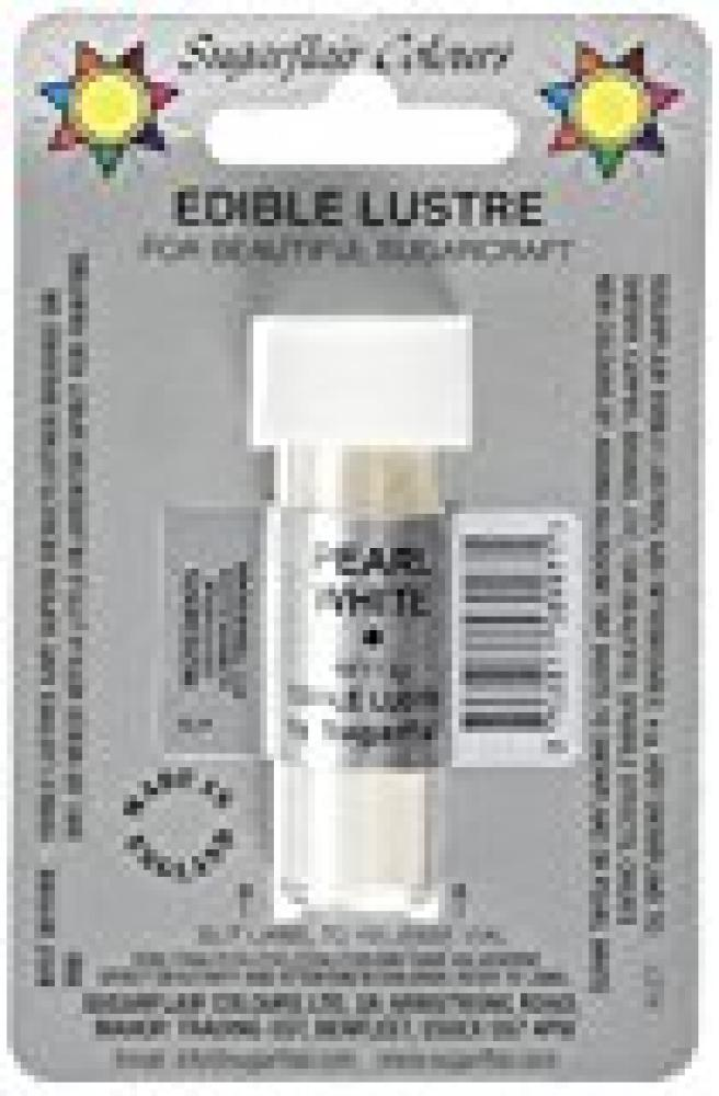 Sugarflair Colours Edible Pearl White Lustre Colour 2g