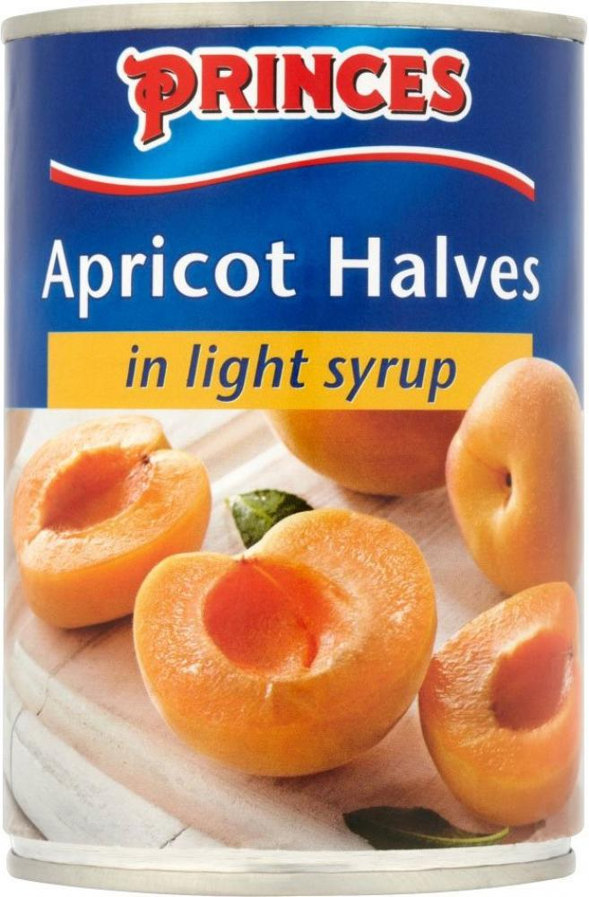 Princes Apricot Halves in Light Syrup 410g
