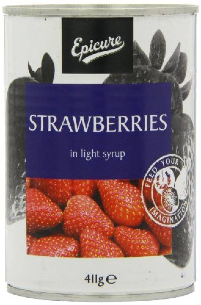 Epicure Strawberries in Light Syrup 411g